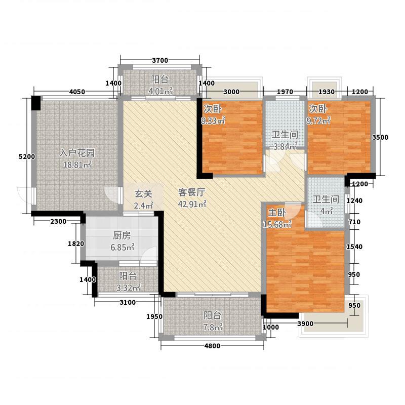 半山豪庭123135.42㎡12栋03户型3室2厅2卫