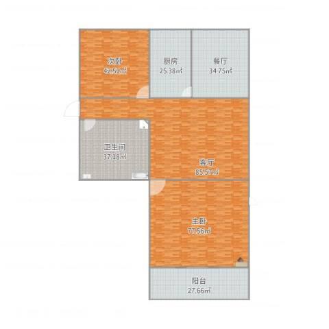 新城小区2室2厅1卫1厨429.00㎡户型图