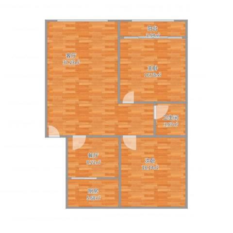 元首针织厂宿舍2室2厅1卫1厨125.00㎡户型图