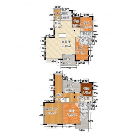 棕榈泉国际花园5室1厅3卫1厨270.00㎡户型图