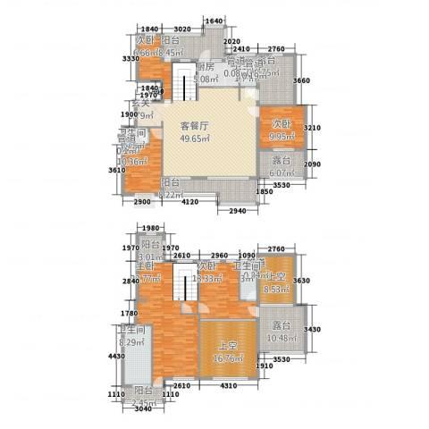 大观天下5室1厅4卫1厨245.00㎡户型图
