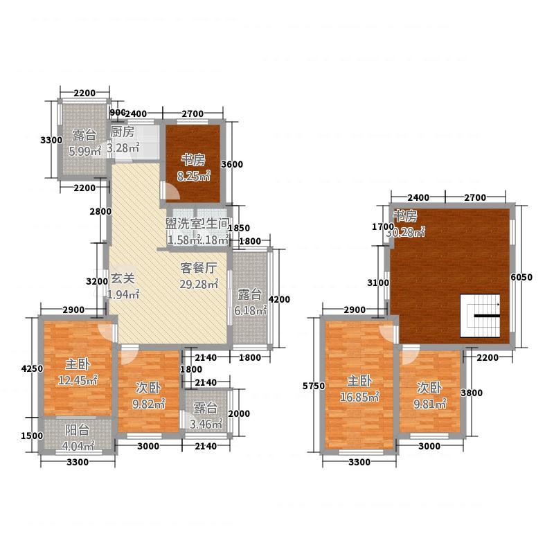 锦和城73217.20㎡7#A户型3室2厅1卫1厨