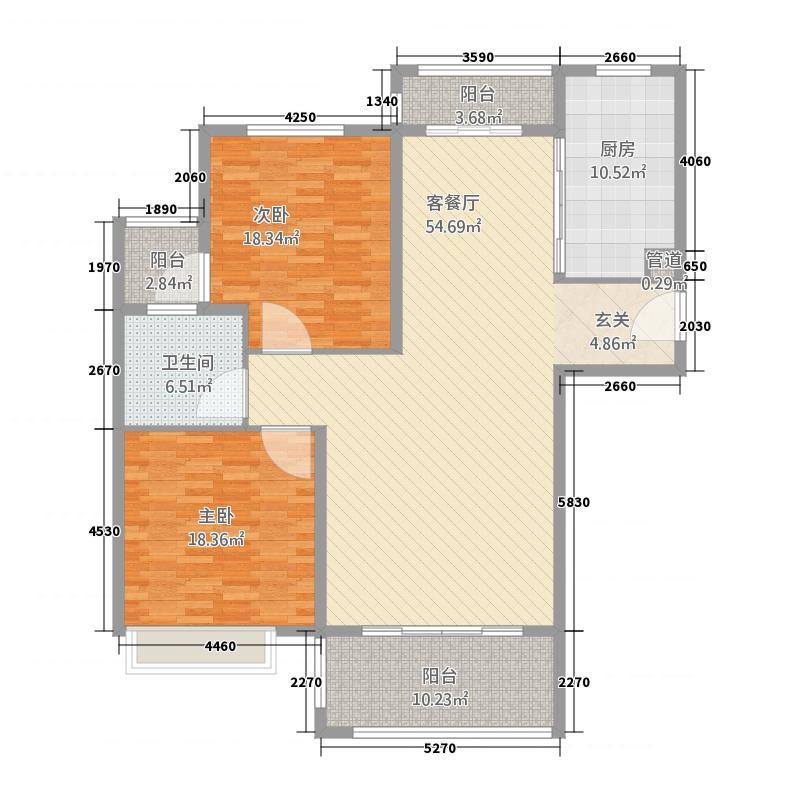 半岛托斯卡纳175.20㎡D1户型2室2厅1卫