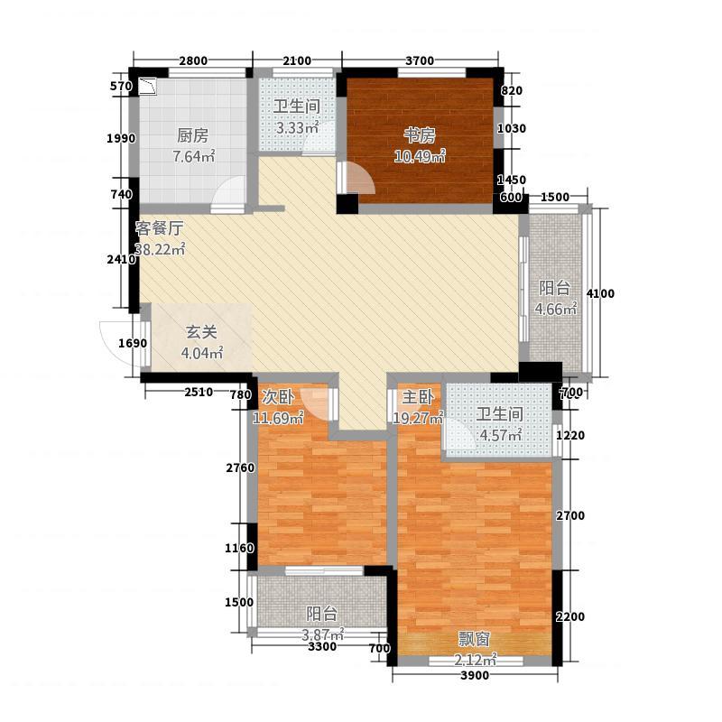 德胜中央城14878132.00㎡1409878_m户型3室2厅2卫1厨