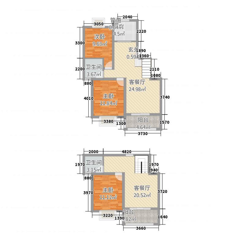 银河新都143.00㎡六期02、04、0顶楼复式户型3室3厅2卫1厨