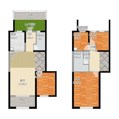 天朗蔚蓝东庭4室1厅2卫1厨174.00㎡户型图