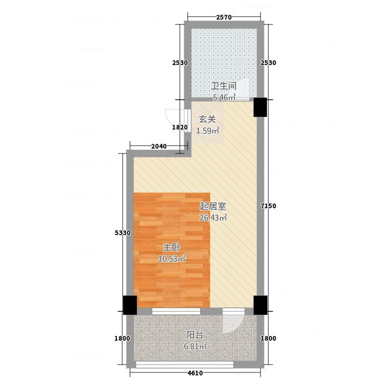 甲克虫公寓55.00㎡户型
