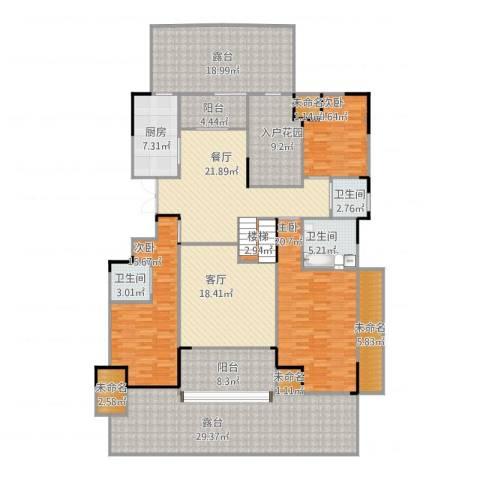 中大未来城3室2厅3卫1厨255.00㎡户型图