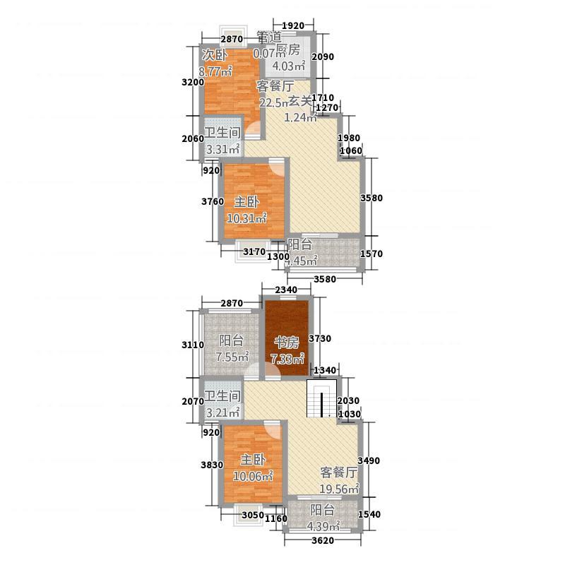 银河新都154.00㎡六期0顶层复式户型4室3厅2卫1厨