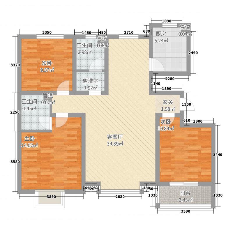 美立方32125.18㎡户型3室2厅2卫1厨