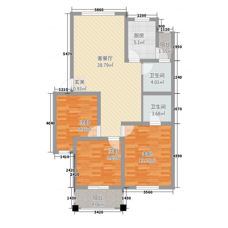 中原佳苑113.45㎡户型