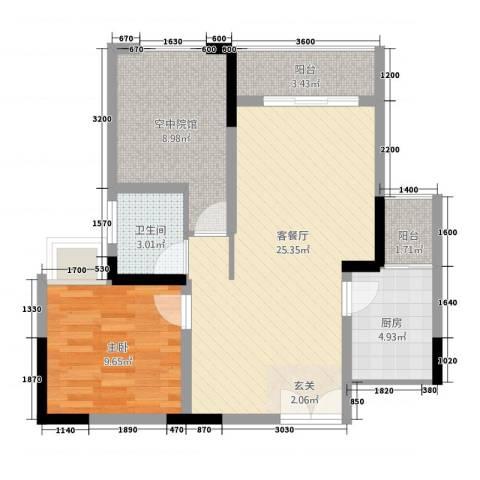 豪禧・银山源1室1厅1卫1厨277.00㎡户型图