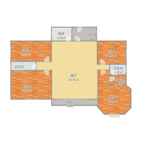 廊桥名轩4室1厅2卫1厨230.00㎡户型图
