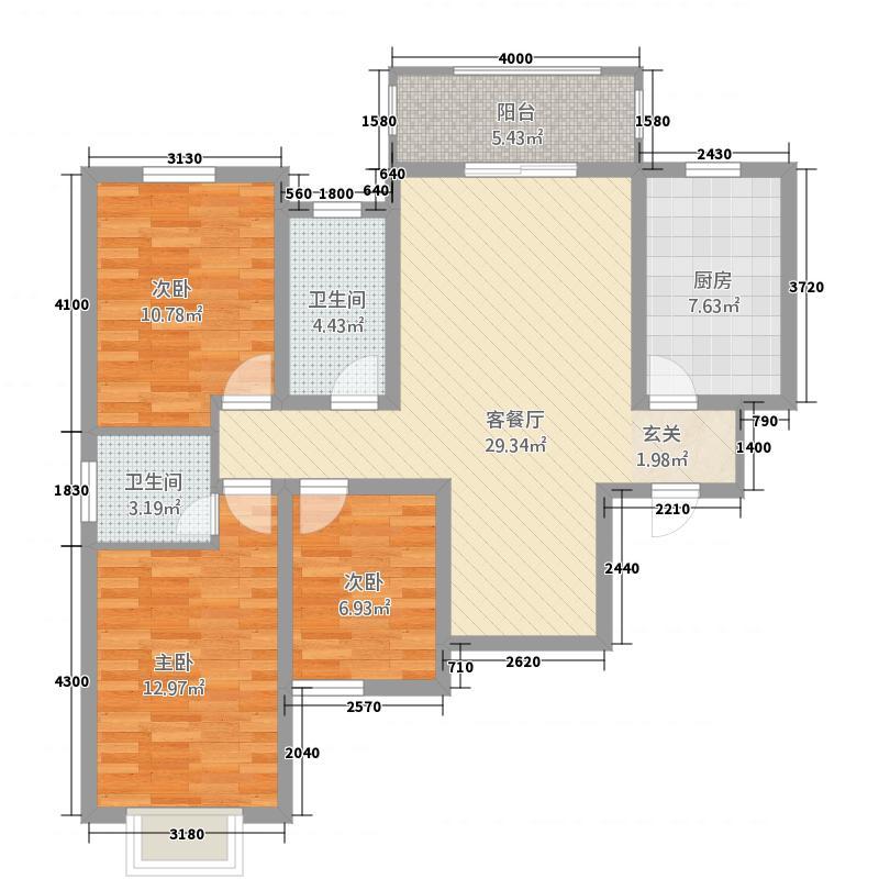 上东城32116.88㎡户型3室2厅2卫1厨