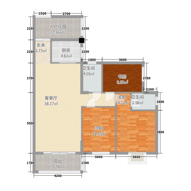 锦绣华庭1期1232118.63㎡户型3室2厅2卫