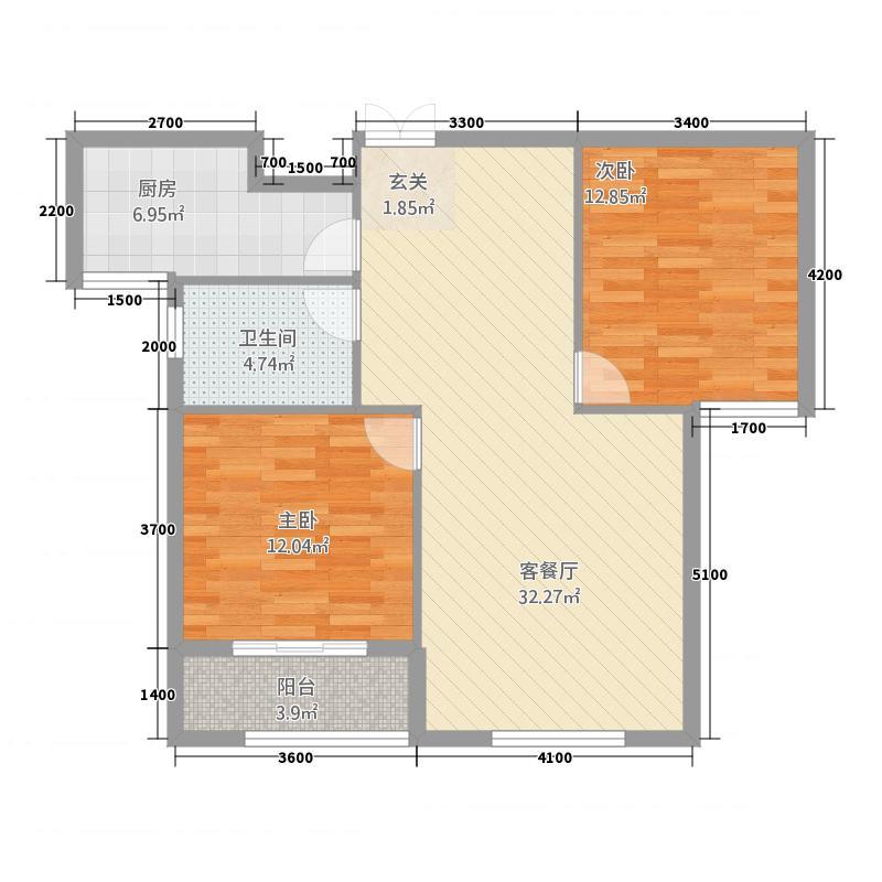 固原COCO蜜城13212.43㎡户型3室2厅1卫1厨