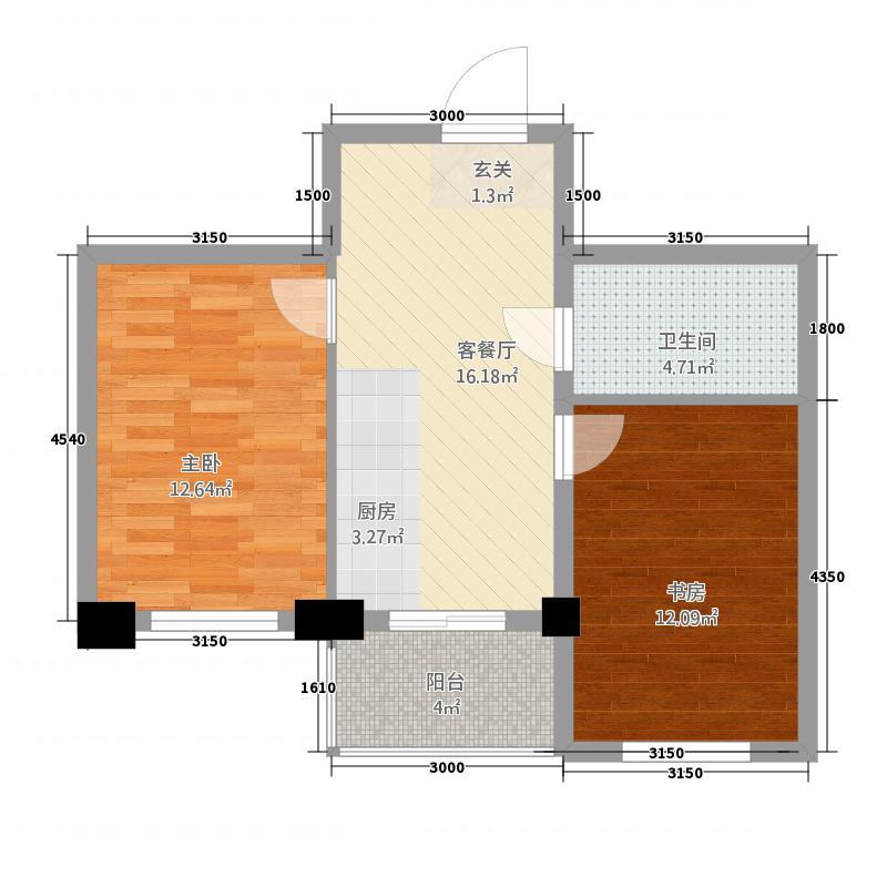 红胜花园867.81㎡(8)户型1室1厅1卫1厨