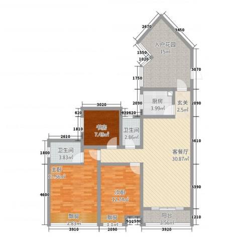 金成・源山3室1厅2卫1厨518.00㎡户型图