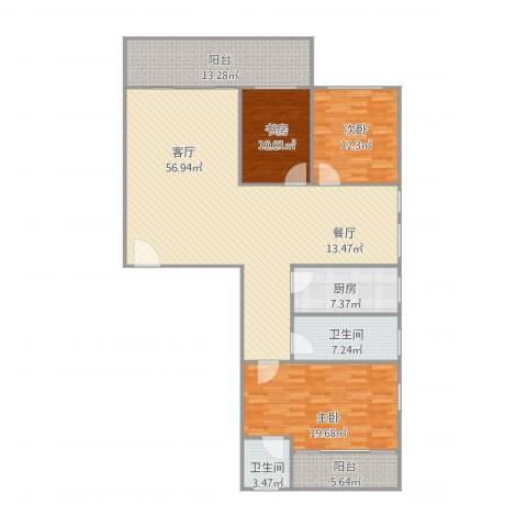钻石苑1座4063室1厅2卫1厨181.00㎡户型图