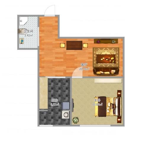 阳光100国际新城二期1室1厅1卫1厨62.00㎡户型图