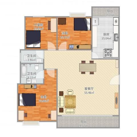 乐然居3室1厅2卫1厨191.00㎡户型图