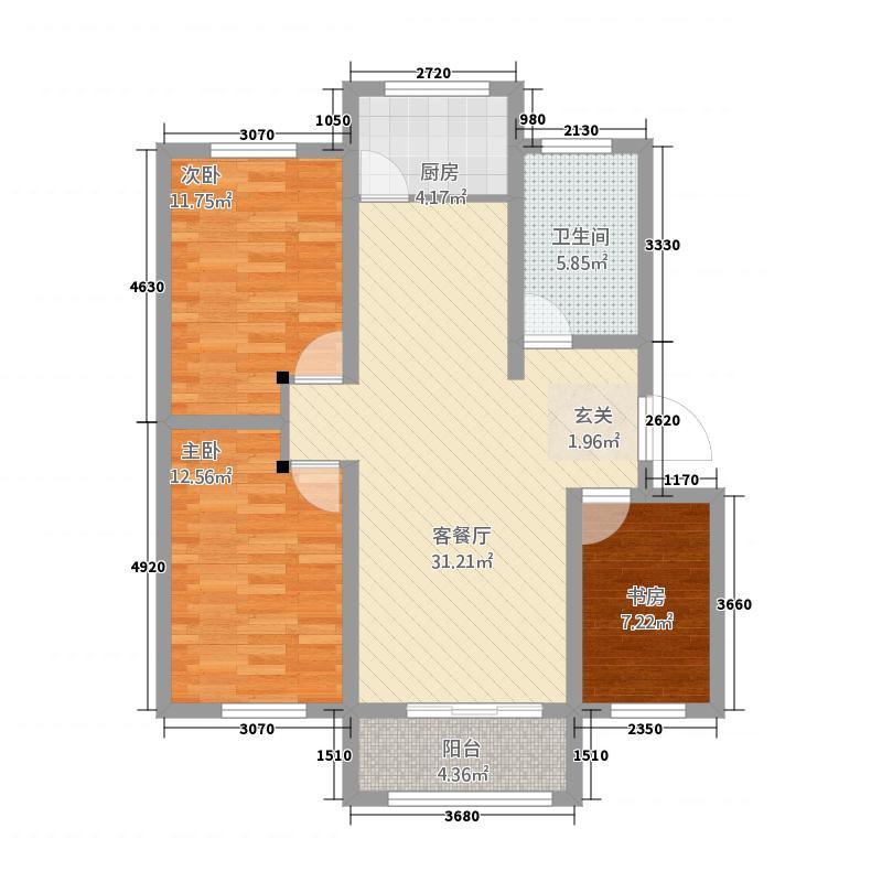 东海宋家巷2111.37㎡QQ图片户型3室2厅1卫1厨