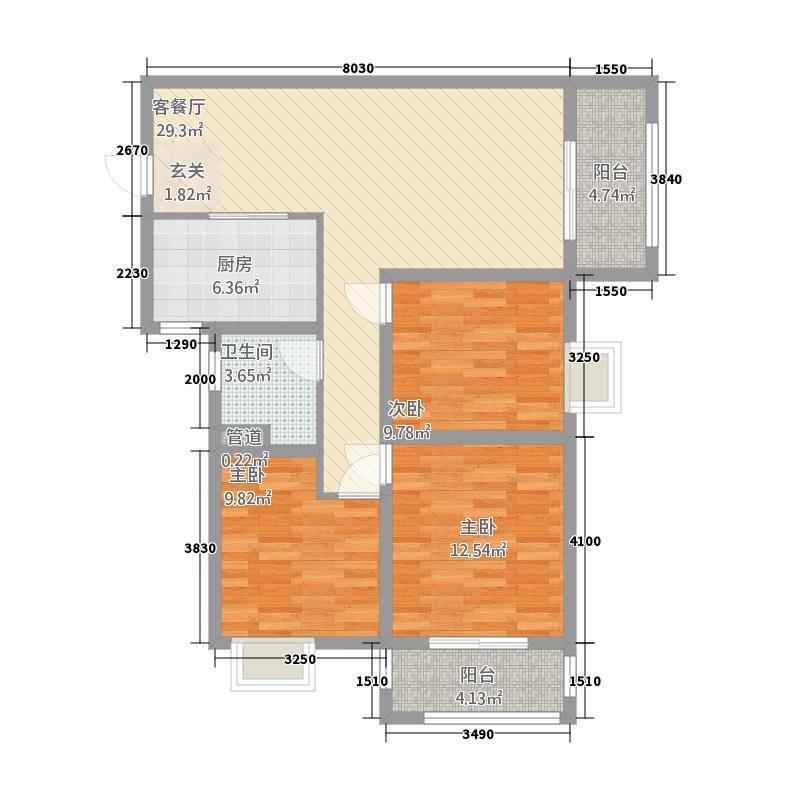德才园32116.20㎡户型3室2厅1卫1厨