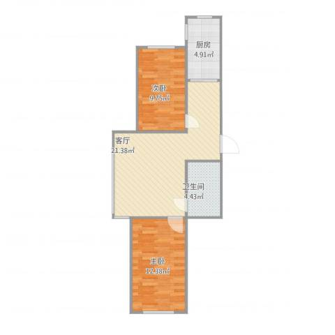 丽晶公馆2室1厅1卫1厨71.00㎡户型图