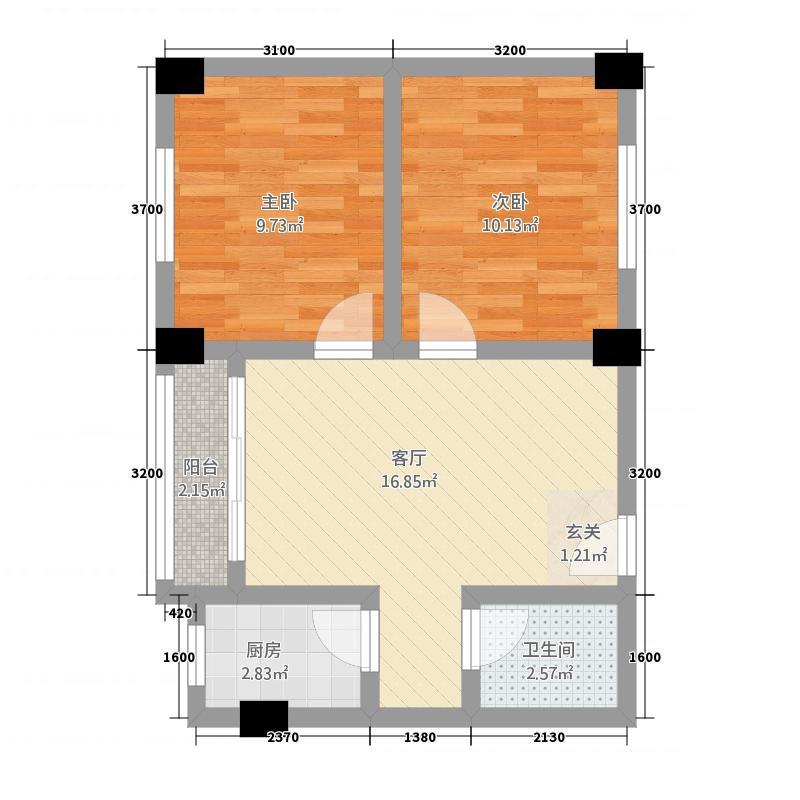 翠竹苑215.88㎡户型2室1厅1卫1厨