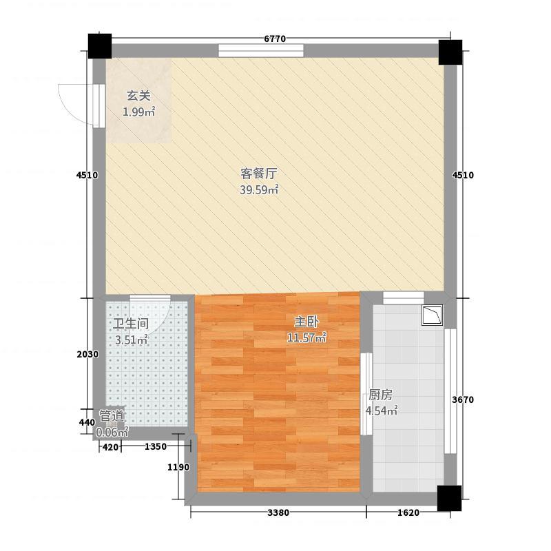 龙鑫新城411142.53㎡户型1室1厅1卫1厨