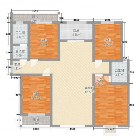 翠堤春晓4室2厅2卫1厨5162.00㎡户型图