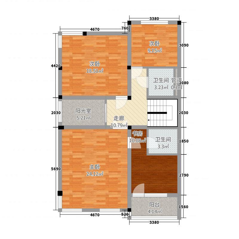 永大明珠・东山花园127.72㎡第六区琴溪香谷2层户型3室