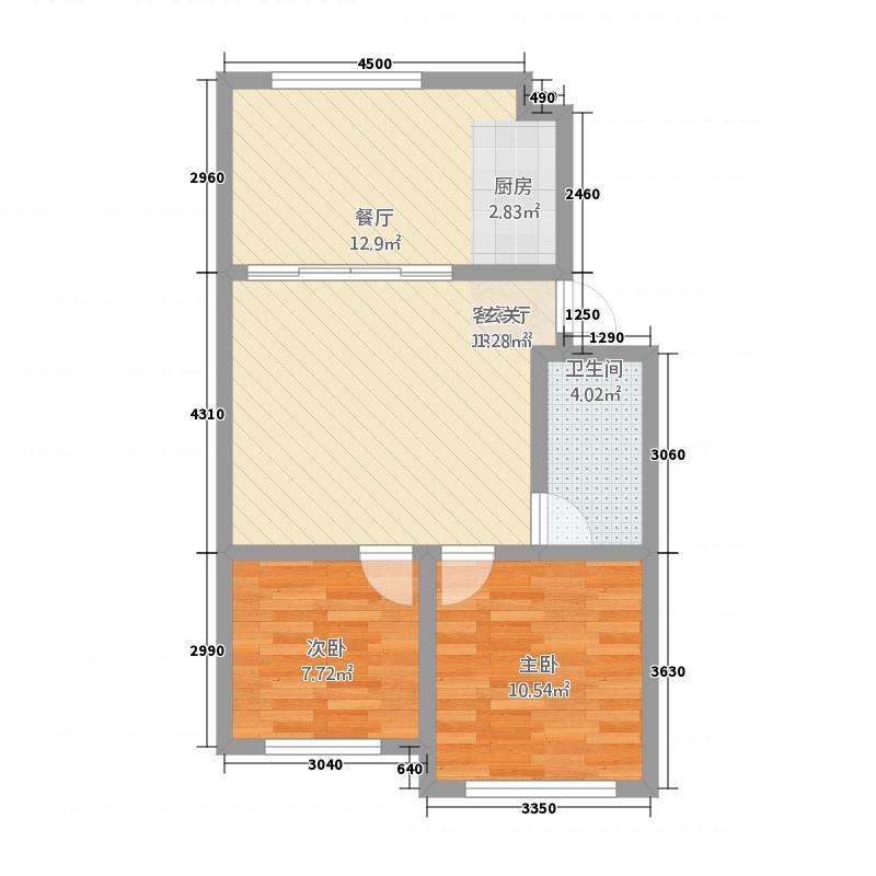 锦福园户型2室2厅1卫1厨
