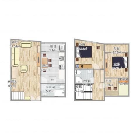 长宁区雅典花园3室1厅2卫1厨151.00㎡户型图