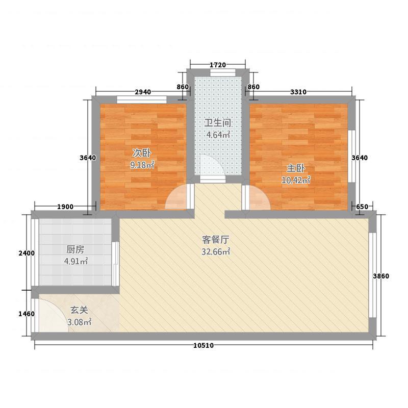 左岸明珠・香邸优客时尚户型2室2厅1卫1厨