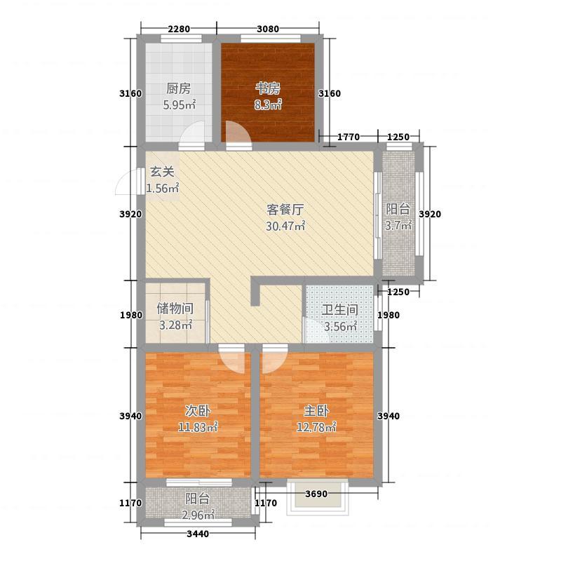 寿光未来城D 户型3室2厅1卫1厨
