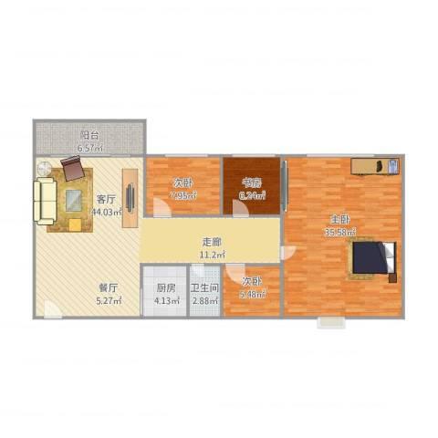 红棉苑4室1厅1卫1厨150.00㎡户型图