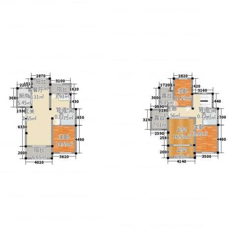 和景印象城3室1厅2卫1厨1159.00㎡户型图