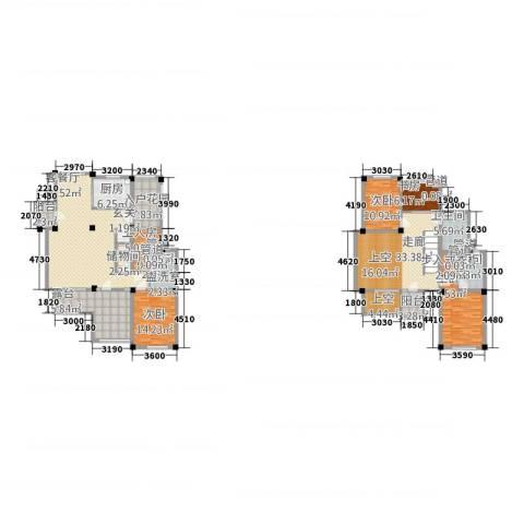 和景印象城4室2厅3卫1厨190.80㎡户型图