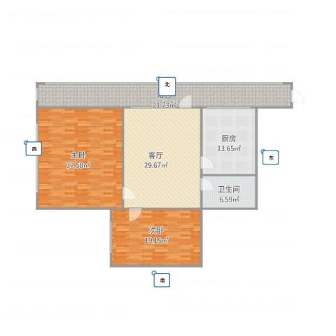 马甸南村9号楼1单元9082室1厅1卫1厨164.00㎡户型图