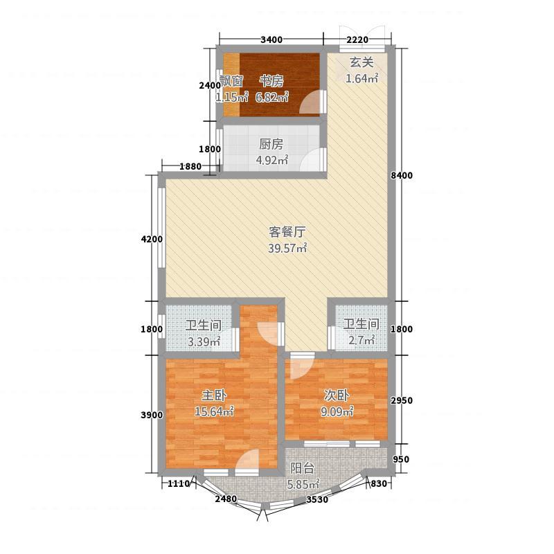 葛洲坝・润景国际12.51㎡户型3室2厅2卫