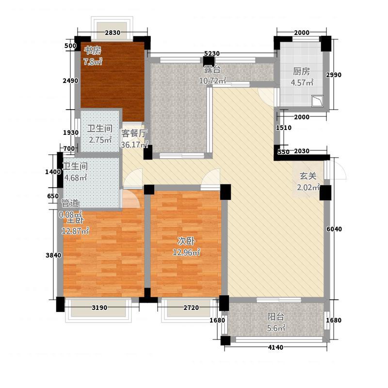 清枫和院322143.22㎡K户型3室2厅2卫