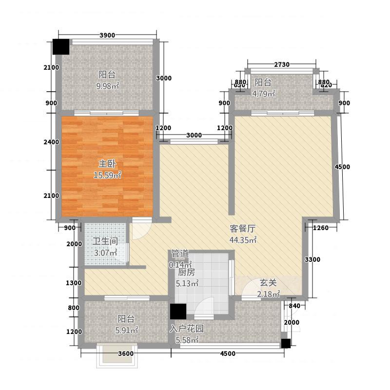 祥瑞城4722114.00㎡户型2室2厅1卫1厨