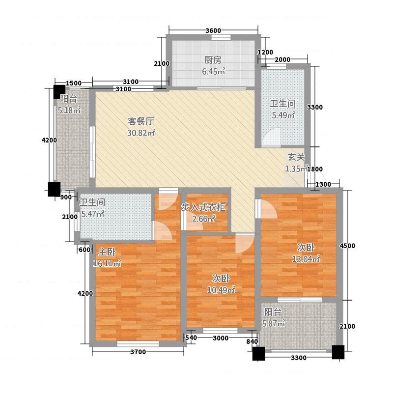 远洲玫瑰园4842121.00㎡0F户型3室2厅2卫1厨