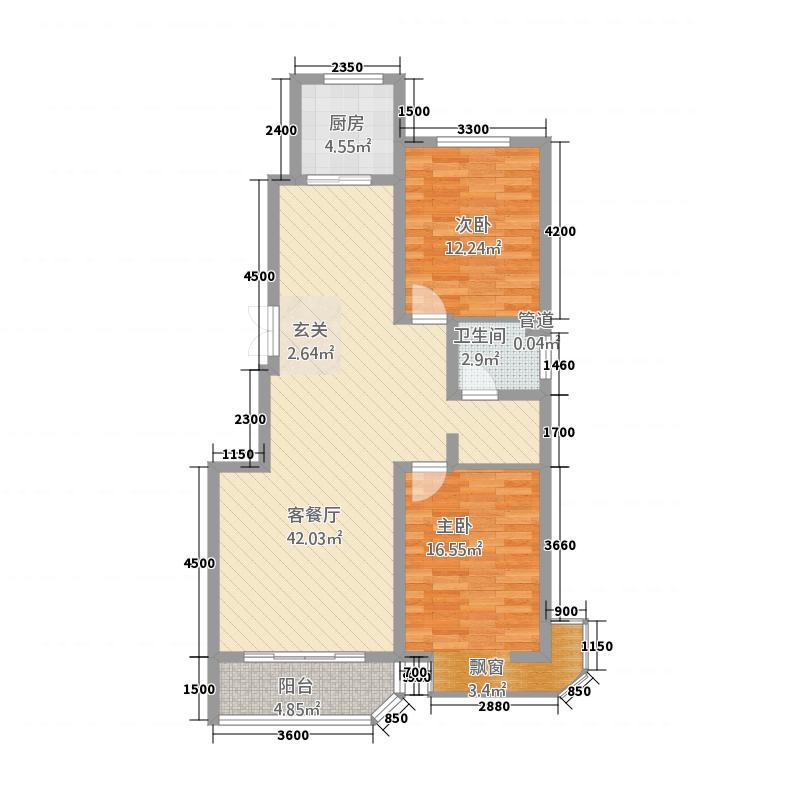 国瑞・瑞锦花苑117.60㎡04瑞锦花苑户型2室2厅2卫1厨