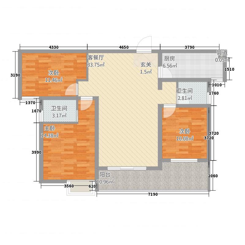 上东国际432132.19㎡户型3室2厅2卫