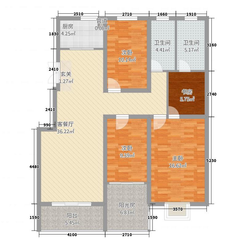 上东国际13214.20㎡户型3室2厅2卫