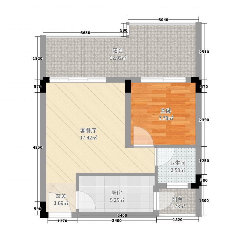 锦城山谷548.20㎡548户型