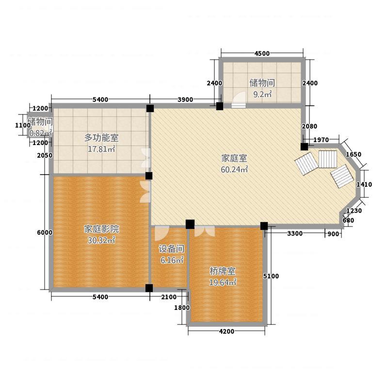 西溪半岛2.20㎡独栋别墅2号楼地下1层平面图1户型11室5厅5卫1厨