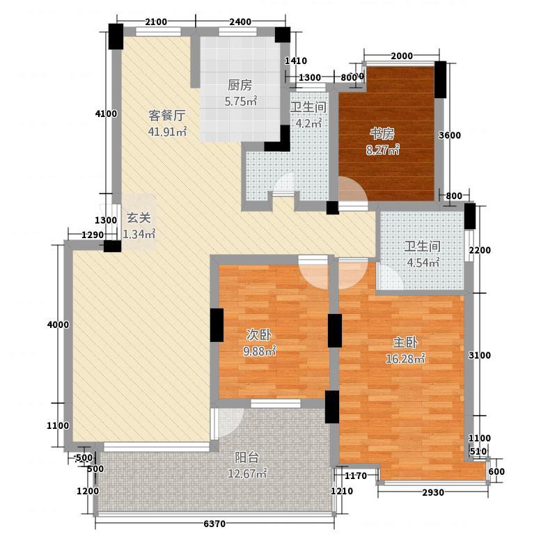 盛大兴城3113.20㎡户型3室2厅2卫1厨